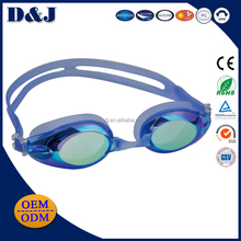 Outdoor tropical swimming goggles anti-fog custom mirror for adult