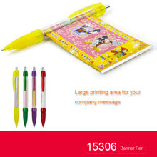 Plastic banner ballpoint pen for advertising