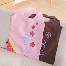 Promotion strawberry eco nylon polyester folding foldable shopping bag