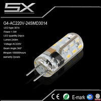 Socket e27/e26/e14/b22 9w g4 led 12v disc g4 led 2.2w light bulb