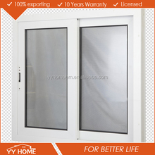 Double tempered glazing office sound proof aluminum sliding window grill design