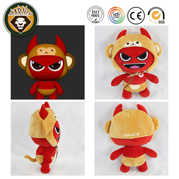 Small demon dress doll creative monkey put another order doll custom cartoon plush toys