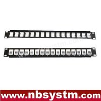 "16 port UTP Blank Patch Panel 19"" 1U, available for Cat5e or Cat6 Keystone Jacks"