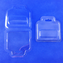 Clear double folded pvc clamshell packaging usb electronic blister small packaging boxes