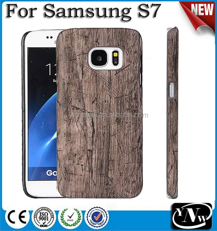 Hot Sell Mobile Phone Wooden Case for Samsung Galaxy S5 S6 S7 Back Cover