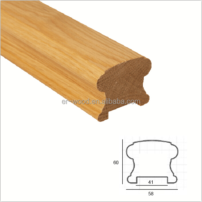 Wooden cove traditional stair railings banister manufacturer