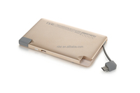 Li-Polymer 3000 mah portable charger power bank for mobile phone and iphone with gift box packing