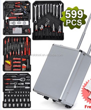 factory supply 599 pcs garage tool for car repair in kit ferramentas