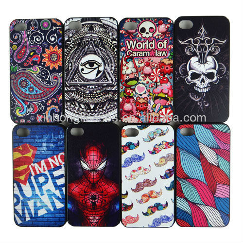For iPhone 4 colorful design case, custom printed case for iphone
