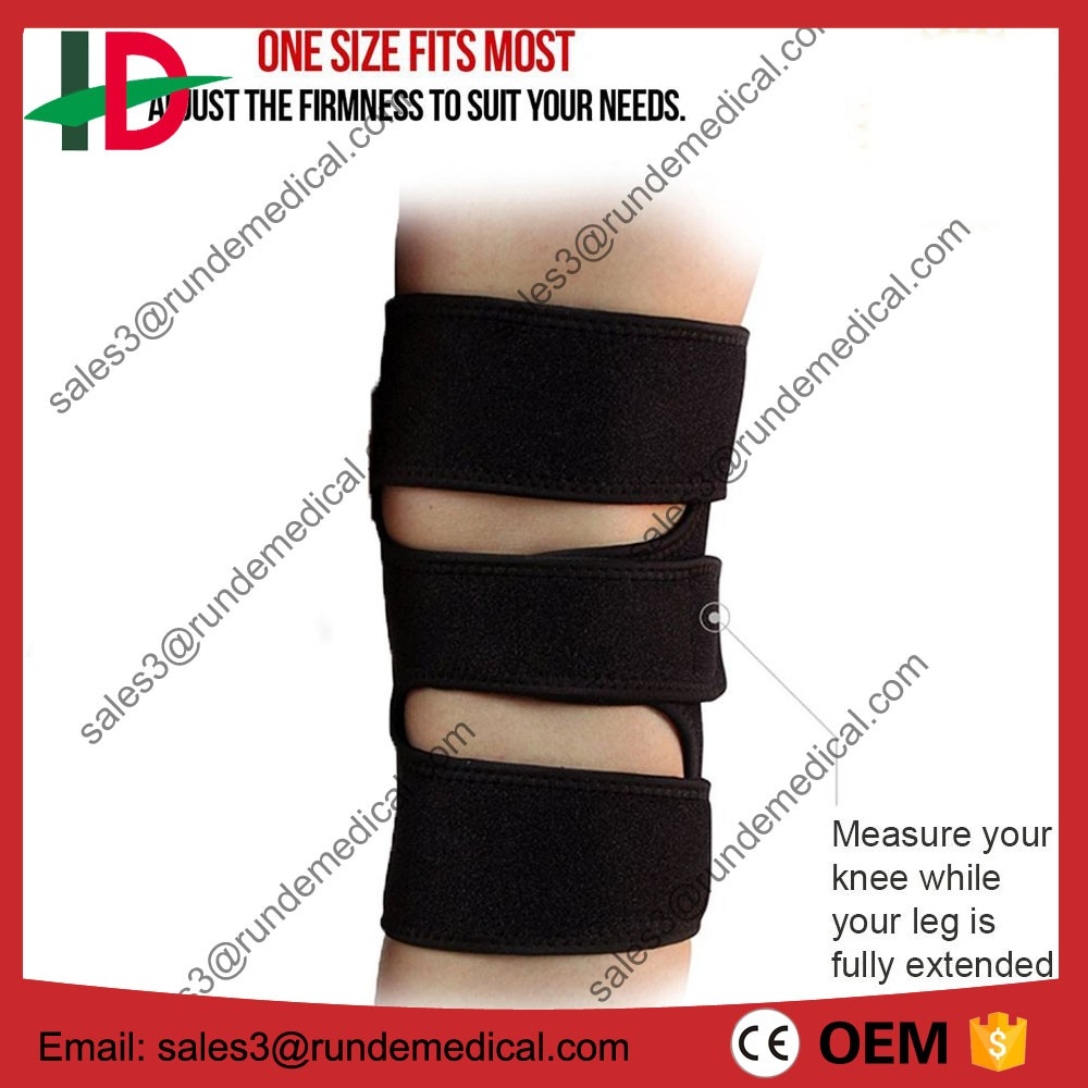 Knee Brace, Adjustable Fit Support - Breathable Neoprene Knee Support Brace Helps with Running, Walking, Mountaineering