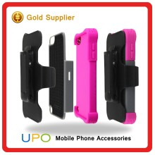 [UPO] Shockproof Silicon Hard PC Plastic Combo Back Cover Case for iPod Touch 5 with Belt Clip