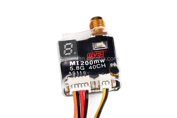DYS mini 5.8GHz 40CH transmitter sender(mi200) 25-200mW Wireless Video Transmitter