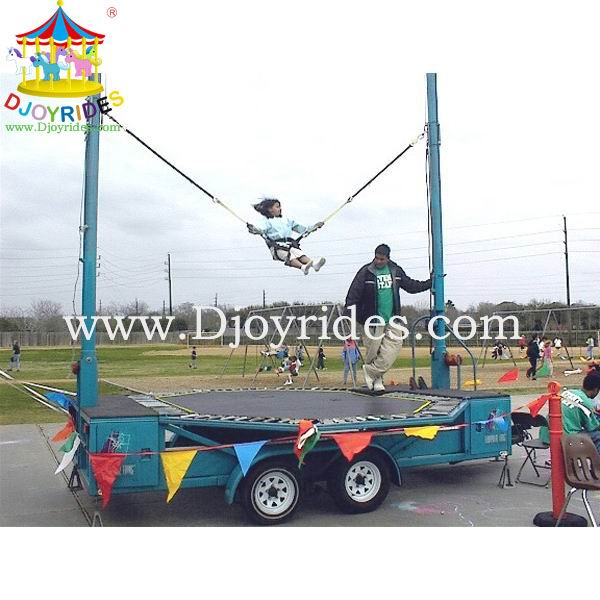 Kids single mobile bungee jumping trampoline for sale