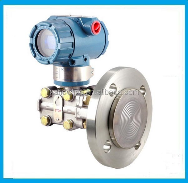 diaphragm seals flange type pressure level transmitter