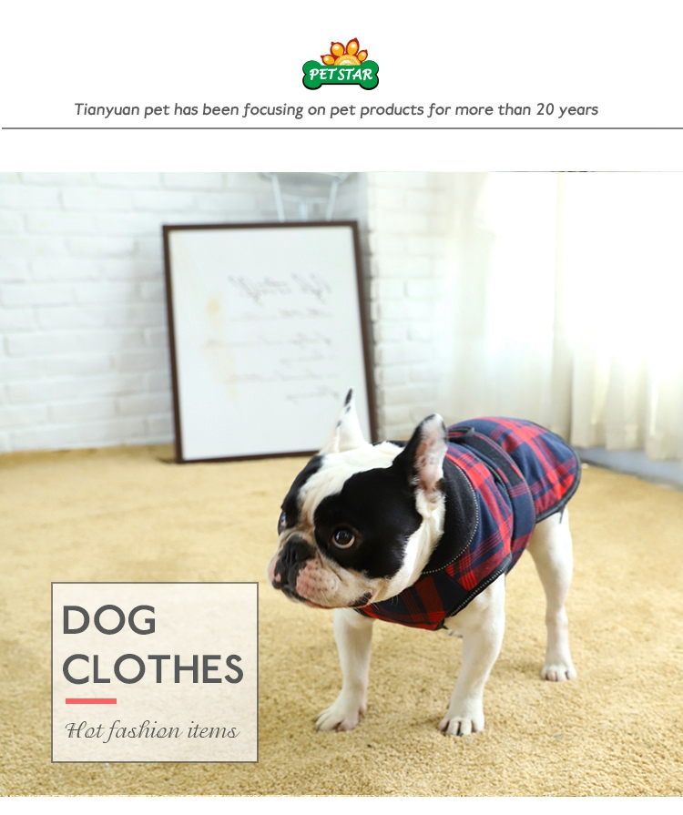 Tianyuan Pet Apparel Dog Plaid Jacket Dog Jacket,Cheap Price Pet Clothes For Dogs