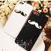Customized moustache design phone jewelry case for iPhone 5