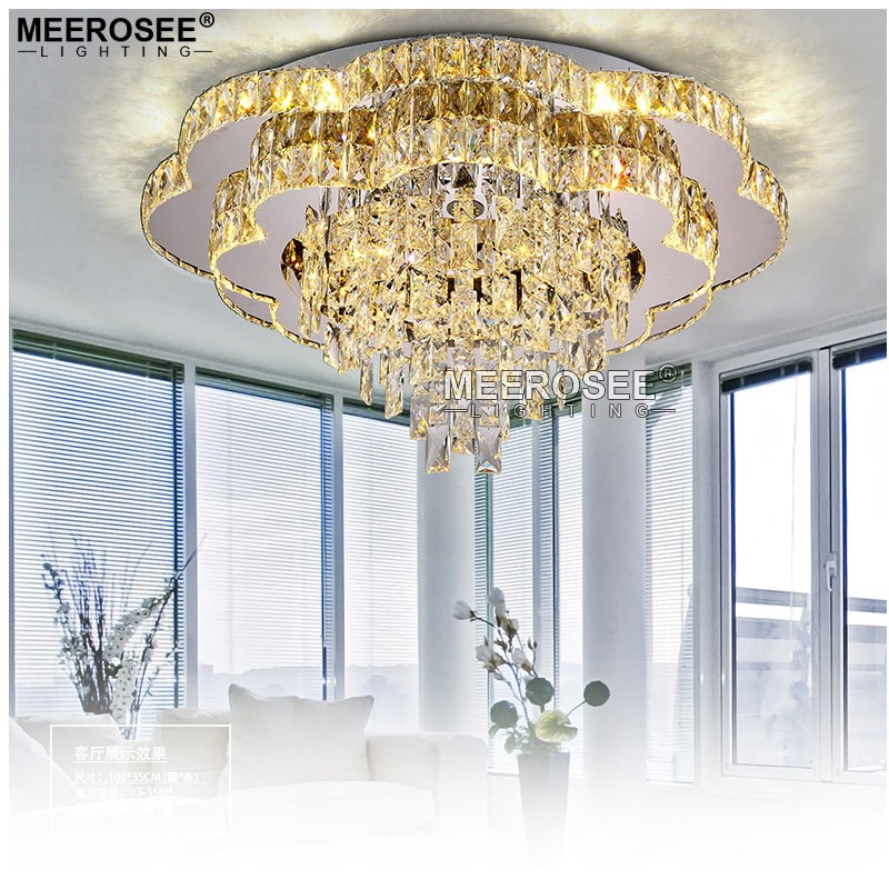 2017 New Modern Chandeliers Crystal Lamp Ceiling Fixtures AC110-240V lustre living Room Lights LED Lamps MD85062
