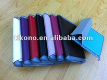 Waterproof plastic case + leather case for ipad mini case