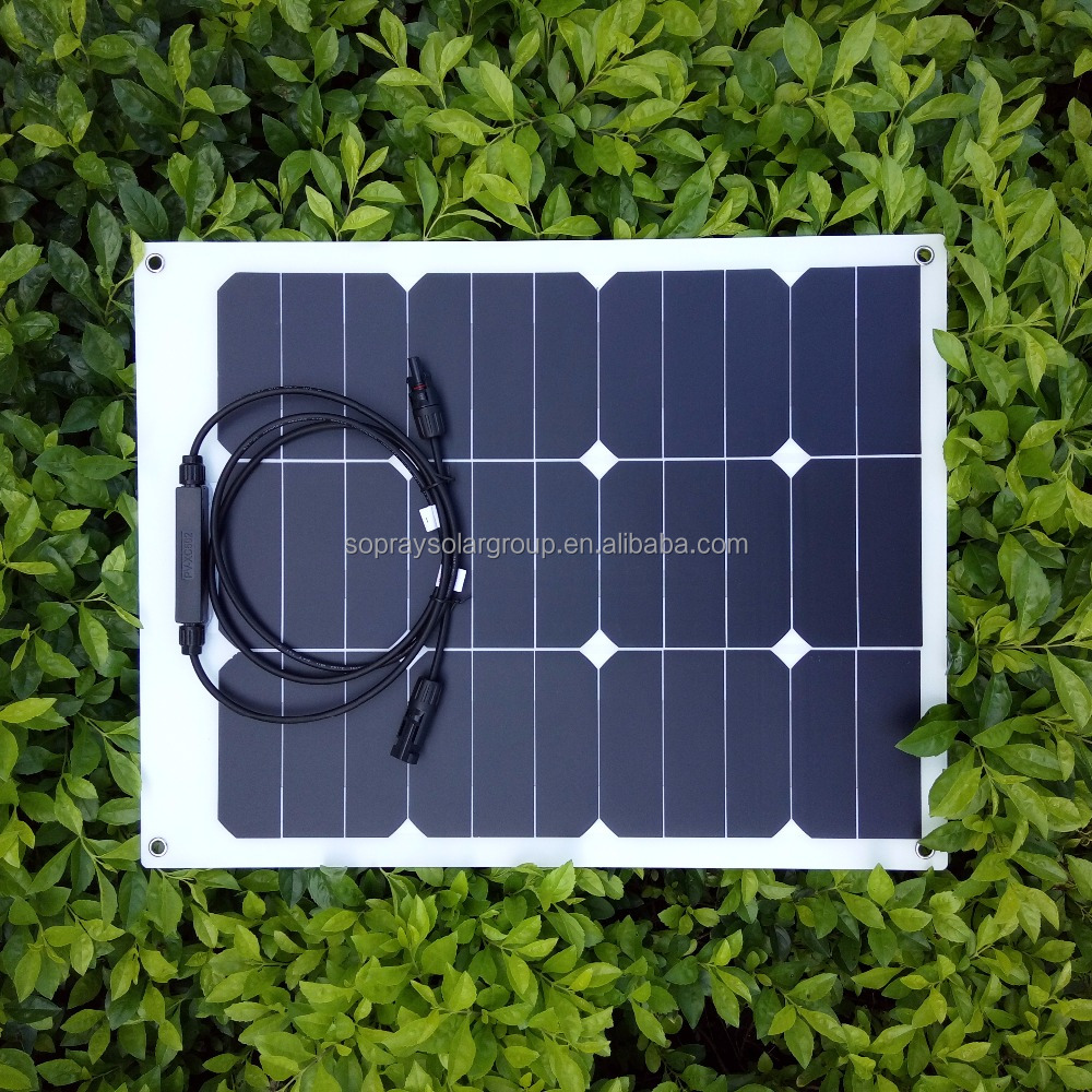 Popular Sunpower 40w semi flexible solar panel module for boat ebike and aircraft