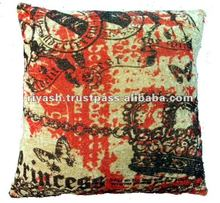 Digital Print Cushion Cover - Cotton Velvet - 50 Cm. Sq.