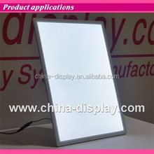Magnetic acrylic frame countertop LED lighted light box for menu display