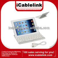 Newest bluetooth keyboard aluminum wireless bluetooth keyboard for iPad2/iPad3 bluetooth keyboard