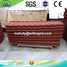 fadeless color decorative stone coated metal roofing tile