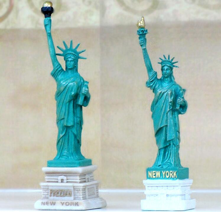 Customizable size American Regional Feature Resin Material Statue of Liberty Figurine