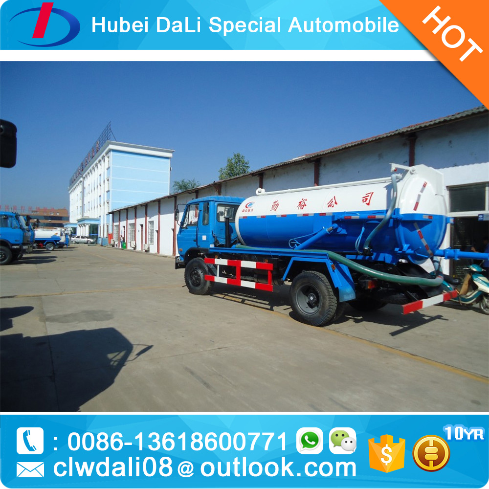 pipe cleaning heavy duty sewage suction tanker truck