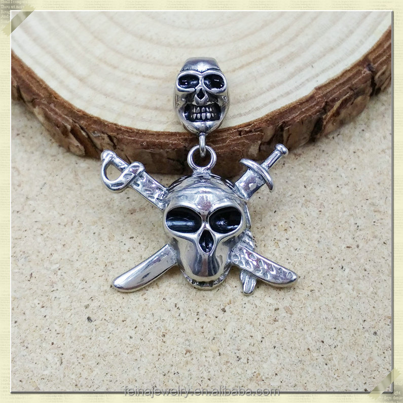 Fancy skeleton pendant jewelry custom stainless steel pendant blank (YCX-003)