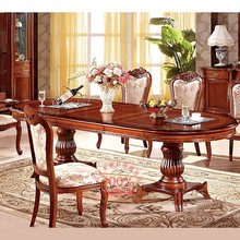 luxury classic solid wooden dining table and chairs all