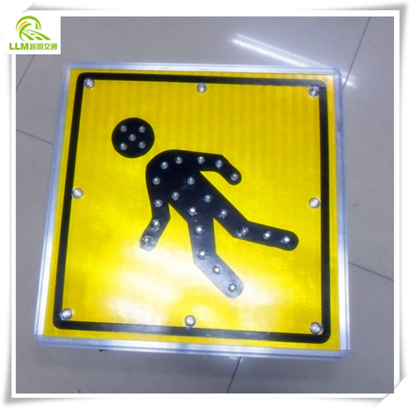 China supplier Pavement safety slow walk LED traffic road warning solar road sign