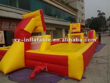Outdoor inflatable games for basketball and football