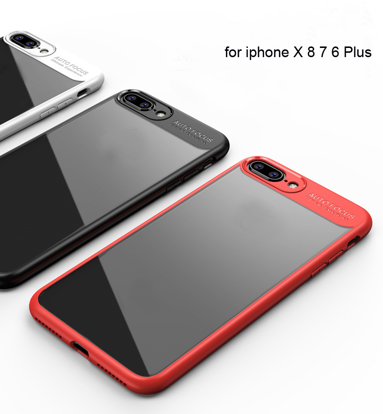2018 Factory Price Soft TPU Clear Phone Case Cover for iphone X 8 7 6 Plus