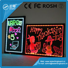 Tempered glass led display board wholesale alibaba sparkle led writing board new inventions