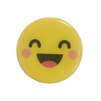 Attractive smiling face 3d dome epoxy fridge magnet