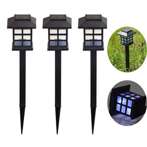 Cottage Style Outdoor Landscape Lighting Garden Decorative Post Gate Lawn Solar Pillar Light