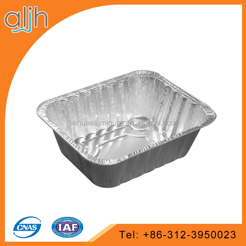 Half size extra deep aluminum foil containers
