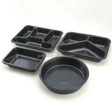 Airline hot meal disposable plastic ovenable CPET food container for packaging