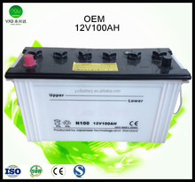 12V 100ah dry cell battery for car