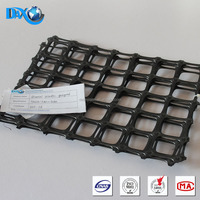 Plastic bi-direction geotechnical grid to reinforce the roadbed