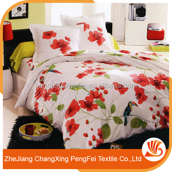 Microfiber 100 polyester brushed fabric 3d bedsheet for india market