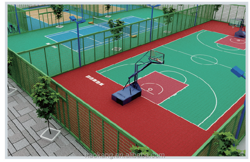 Outdoor basketball/volleyball/tennis floor mat