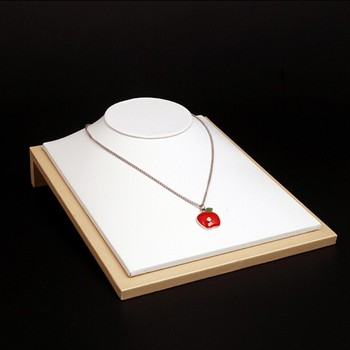 Luxury PU leather necklace bust countertop jewelry necklace holder