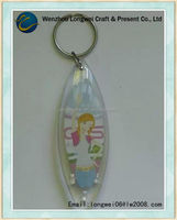 beauty printed paper inside keychain photo viewer/keychain machine