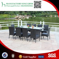 Dining set rattan outdoor dining table set 10 seater dining tables