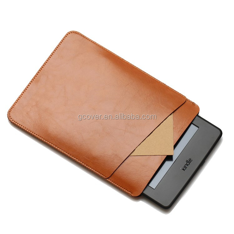 leather pouch for Kindle Paperwhite 3, for Kindle paperwhite 3 leather case