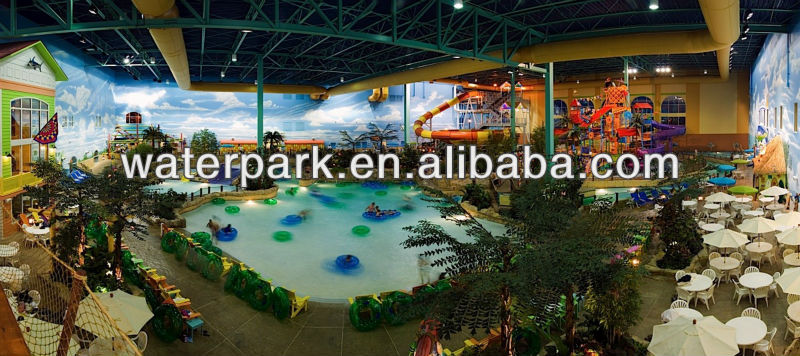 Indoor aqua park equipment wave pool