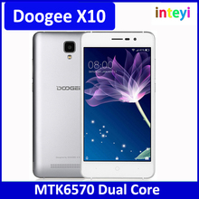 Hotsale Doogee X10 MT6570 Dual Core 5.0inch 512M RAM 8G ROM Bluetooth 4.0 Android 6.0 cellphone