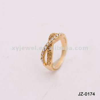 2012 new design gold finger ring